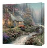 Twilight Cottage Toile tendue sur châssis par Thomas Kinkade