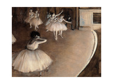 Dance Foyer at Opéra (Paris) Giclee Print by Edgar Degas