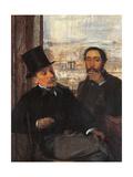 Degas and Evariste de Valernes Giclee Print by Edgar Degas