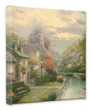 Lamplight Brooke Stretched Canvas Print by Thomas Kinkade