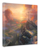 The Cross Stretched Canvas Print by Thomas Kinkade