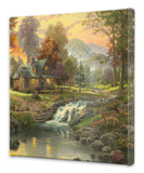 Mountain Retreat Stretched Canvas Print by Thomas Kinkade