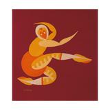 Armadillo Ballerina (Trisa) Reproduction procédé giclée par Fortunato Depero