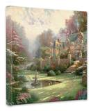 Gardens Beyond Spring Gate Stretched Canvas Print by Thomas Kinkade