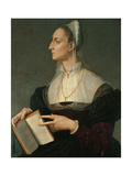 Portrait of Laura Battiferri Giclee Print by Agnolo Bronzino