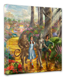 Follow the Yellow Brick Road Stretched Canvas Print by Thomas Kinkade
