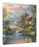 Nature's Paradise Stretched Canvas Print by Thomas Kinkade