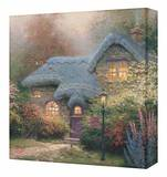 Heathers Hutch Stretched Canvas Print by Thomas Kinkade