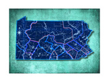 Pennsylvania Turquoise Giclee Print by Andrew Sullivan
