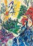 Le Clown au Cerceau Affiches par Marc Chagall