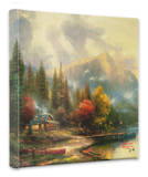 End of a Perfect Day 3 Stretched Canvas Print by Thomas Kinkade