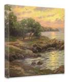 Sunset on Monterey Bay Stretched Canvas Print by Thomas Kinkade
