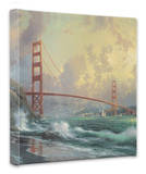 SF Golden Gate Bridge Stretched Canvas Print by Thomas Kinkade