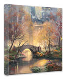 Central Park in the Fall Stretched Canvas Print by Thomas Kinkade