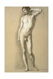 Male Nude Standing (Nudo Virile in Piedi) Giclee Print by Carlo Picozzi