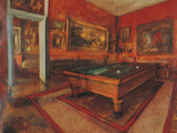 La salle de billard Impression giclée par Edgar Degas