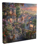 Lady and the Tramp Stretched Canvas Print by Thomas Kinkade