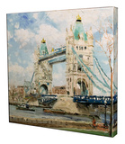 Tower Bridge Stretched Canvas Print by Thomas Kinkade