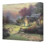Good Shepherd's Cottage Stretched Canvas Print by Thomas Kinkade