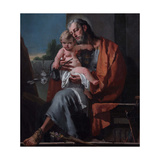 St. Joseph with the Child Giclee Print by Giambattista Tiepolo