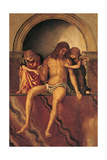 Jesus Christ Supported by Two Angels Giclee Print by Bernardino Zaganelli