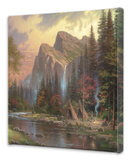 Mountains Declare His Glory Stretched Canvas Print by Thomas Kinkade