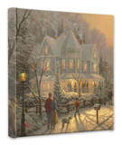 Holiday Gathering Stretched Canvas Print by Thomas Kinkade