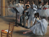 Dance Foyer at the Opera Giclee Print by Edgar Degas
