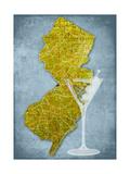 NJ Martini Blue Prints by Andrew Sullivan