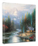 End of a Perfect Day 2 Stretched Canvas Print by Thomas Kinkade