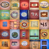 House Numbers II Photographic Print by Kathy Mahan