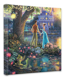 Princess and the Frog Stretched Canvas Print by Thomas Kinkade