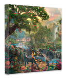 Jungle Book Stretched Canvas Print by Thomas Kinkade