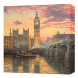 London Stretched Canvas Print by Thomas Kinkade