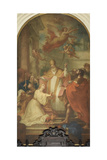 St. Stephen Baptizing Lucilla Giclee Print by Tommaso Masaccio