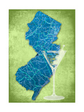 NJ Martini Green Giclee Print by Andrew Sullivan