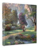 Walk of Faith Stretched Canvas Print by Thomas Kinkade