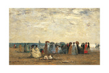 Bathers on the Beach at Trouville Giclee Print by Eugène Boudin