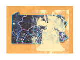 Pennsylvania Cut Out Orange Print by Andrew Sullivan