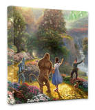 Dorothy Discovers the Emerald City Stretched Canvas Print by Thomas Kinkade