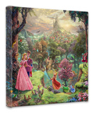Sleeping Beauty Stretched Canvas Print by Thomas Kinkade