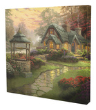 Make a Wish Cottage Stretched Canvas Print by Thomas Kinkade