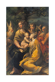 Madonna with Child and Sts. Augustine, Jerome, Margaret and an Angel Gicleetryck av Parmigianino,