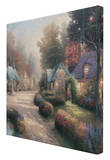 Cobblestone Lane Stretched Canvas Print by Thomas Kinkade