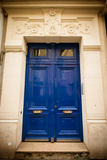 Blue Door in Paris Photographic Print by Erin Berzel