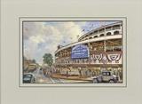 Wrigley Field: Memories and Dreams Reproduction avec bordure par Thomas Kinkade