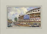 Wrigley Field: Memories and Dreams Matted Print by Thomas Kinkade