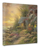 Seaside Hideaway Stretched Canvas Print by Thomas Kinkade