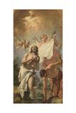 Christ Baptize Giclée-tryk af Sebastiano Ricci