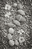 Curving Rocks I Photographic Print by Kathy Mahan